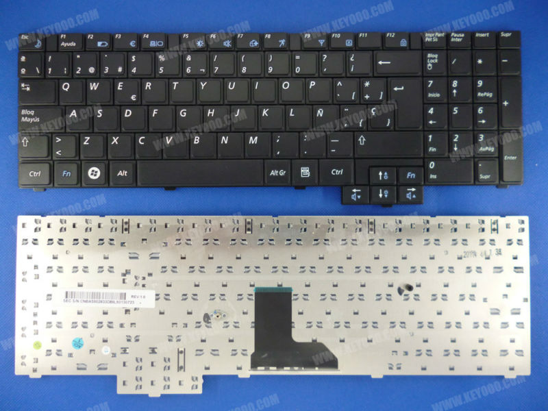 Keyboard SAMSUNG R523 R528 R530 P580 R540 R620 Series Keyboard Black