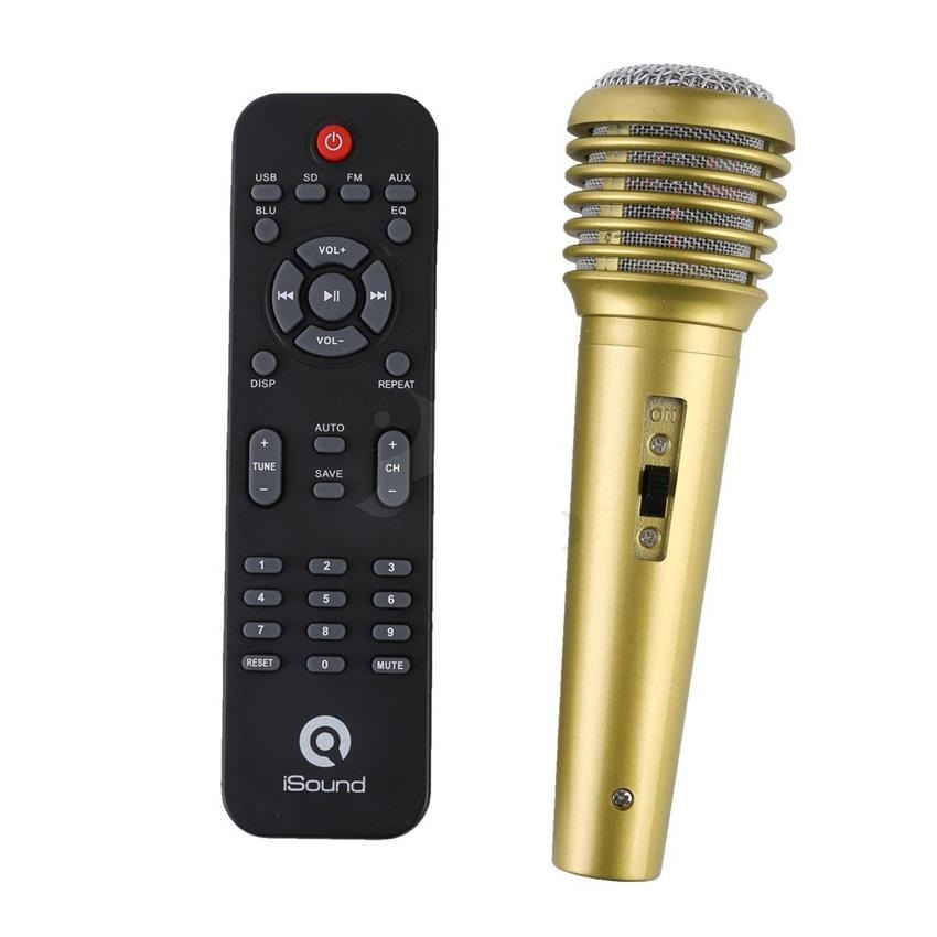 LOA BLUETOOTH KARAOKE ISOUND SP250B/2.0 (USB/ THẺ NHỚ/FM/BLUETOOTH/REMOTE/MIC KARAOKE)