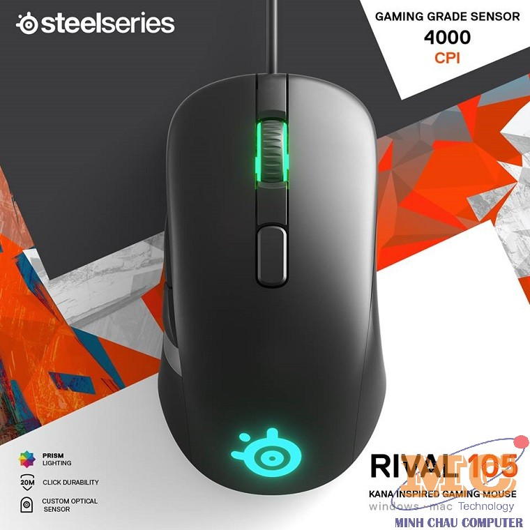 Mouse cao cấp SteelSeries Rival  105