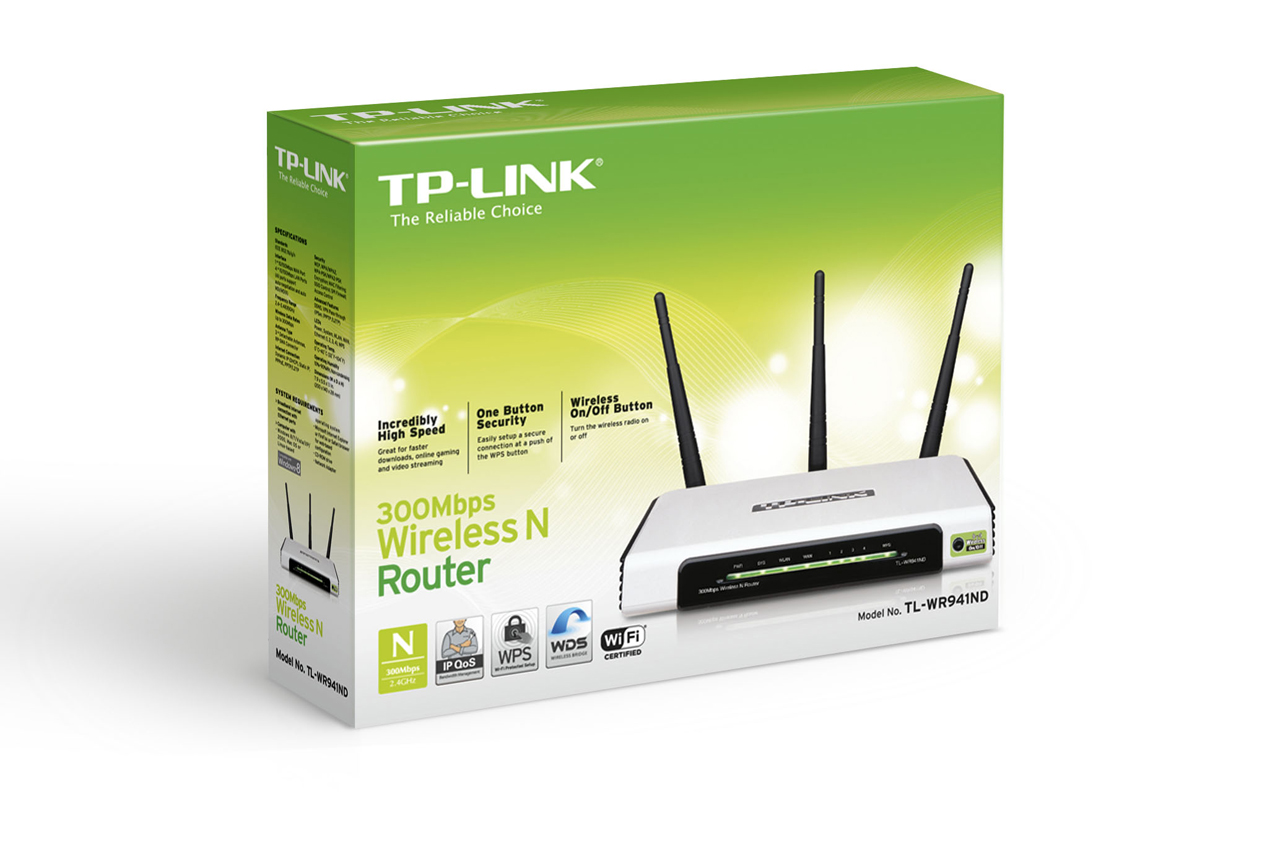 ROUTER TP-LINK TL-WR941ND- 300M Wireless N Router