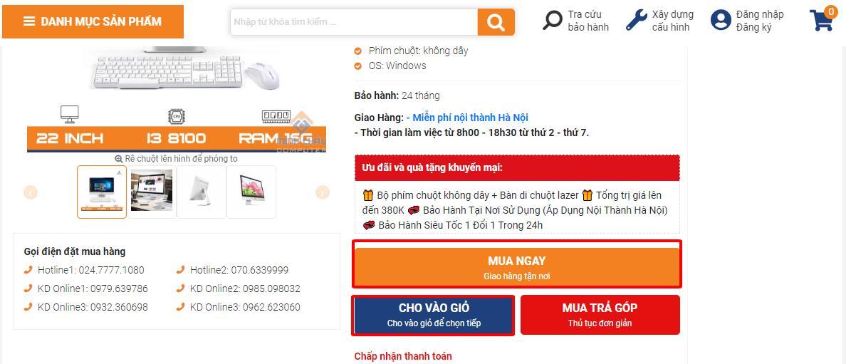Hướng dẫn mua hàng online tìm kiếm bằng từ khóa