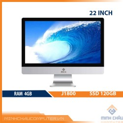 Bộ PC All in ONE (AIO) MCC1841 Home Office Computer CPU J1800/ Ram4G/ SSD120G/ 22inch/ Camera/ Wifi