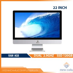 Bộ PC All in ONE (AIO) MCC2081 Home Office Computer CPU Dual 2.9Ghz/ Ram8G/ SSD120G/ Wifi/ Camera/ 22inch
