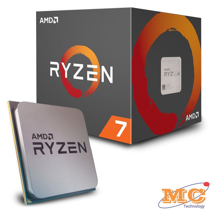 CPU AMD Ryzen 7 2700 (3.2GHz turbo up to 4.1GHz, 8 nhân 16 luồng, 16MB Cache, 65W) - Socket AM4