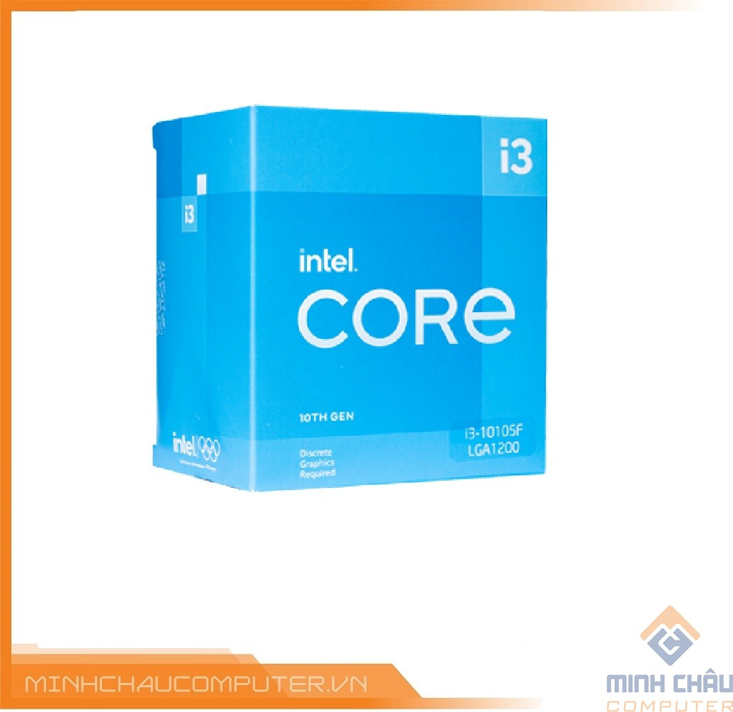 CPU Intel Core i3-10105F (3.7GHz turbo 4.4Ghz | 4 Nhân 8 Luồng | 6MB Cache | 65W)